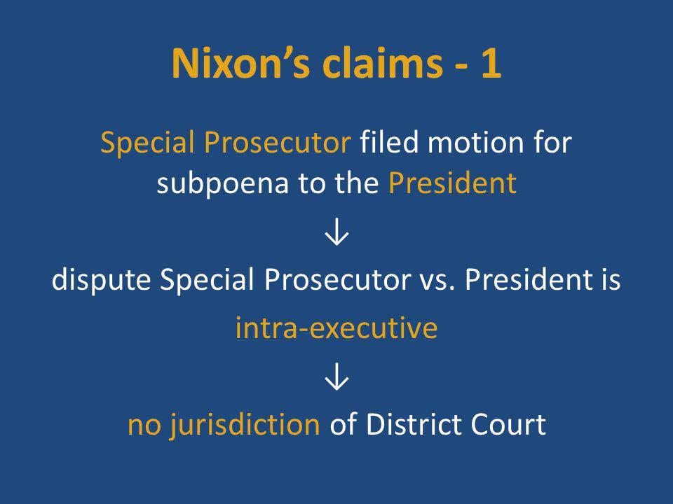 Nixon's claims - 1