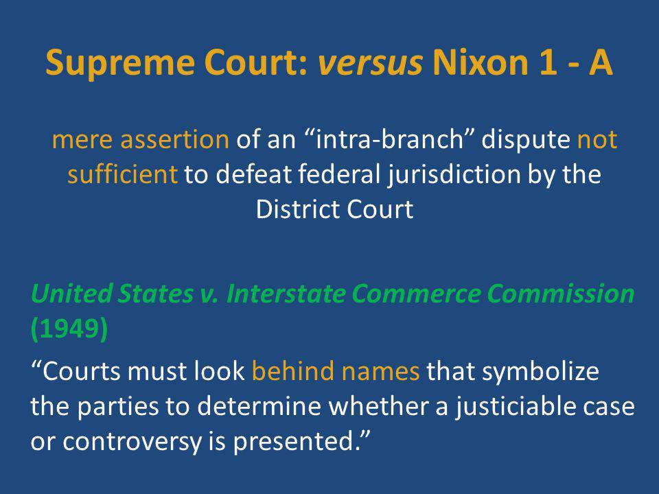 Supreme Court: versus Nixon 1 - A