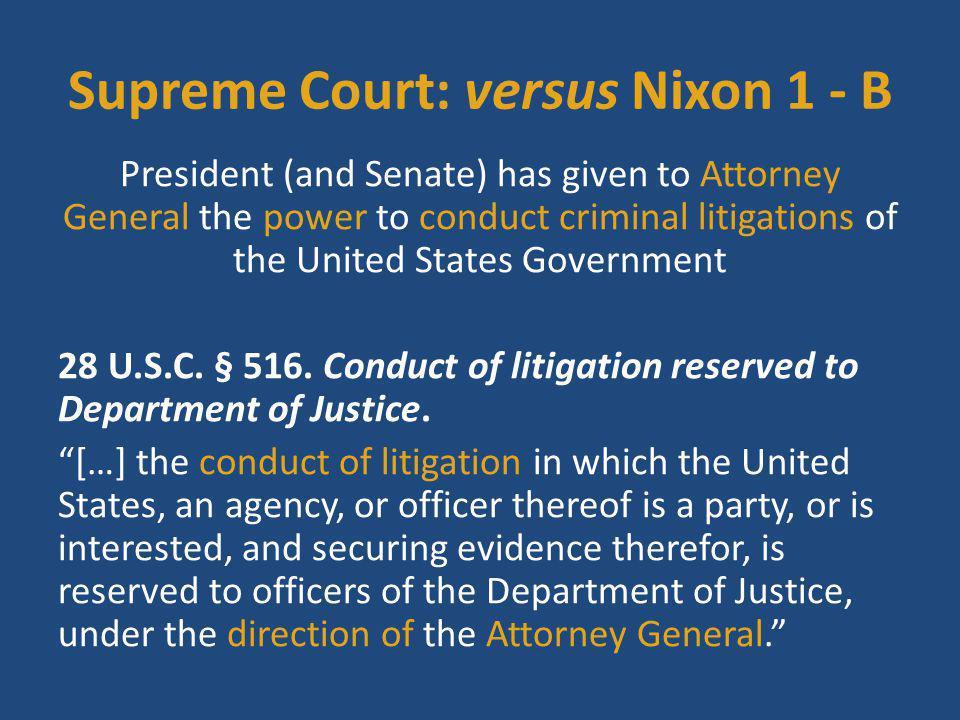 Supreme Court: versus Nixon 1 - B