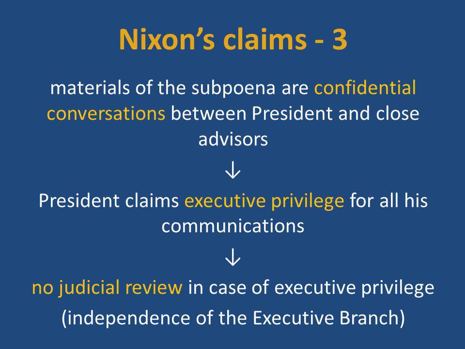 Nixon's claims - 3