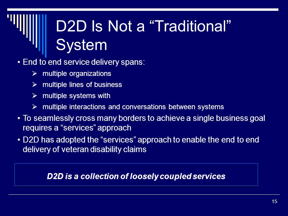 D2D Is Not a Traditional System