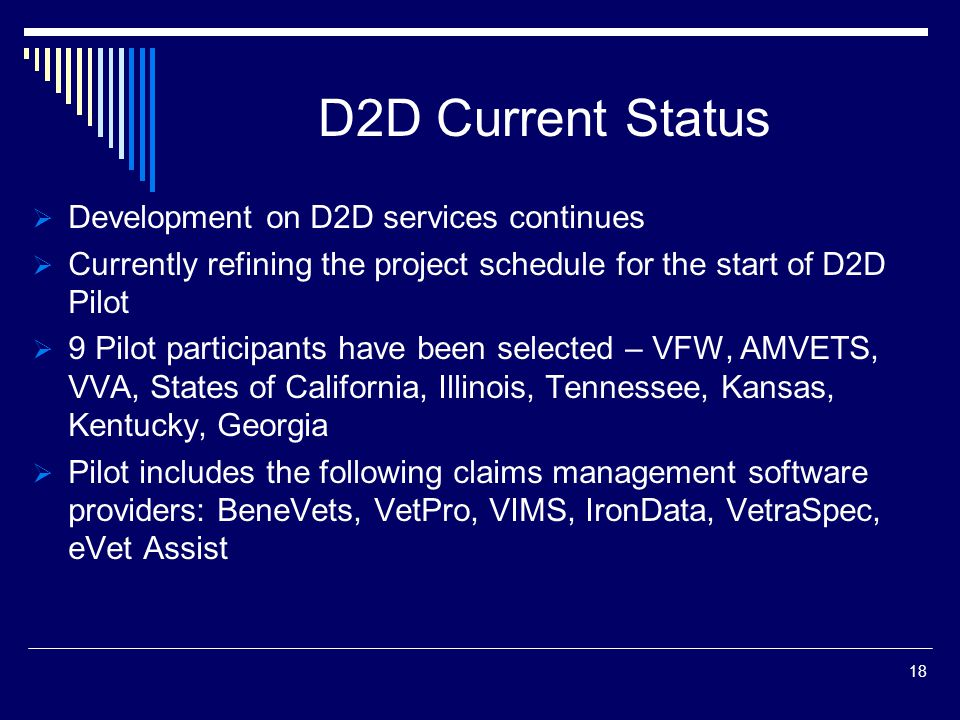 D2D Current Status Development on D2D services continues