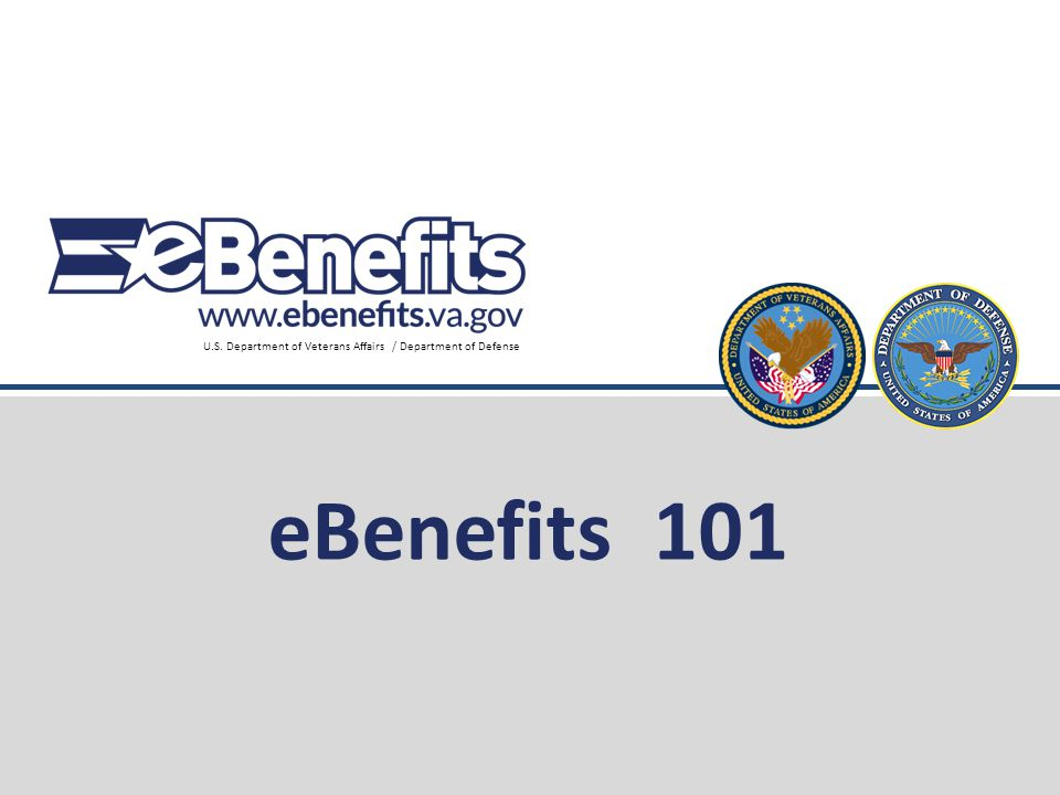 eBenefits 101