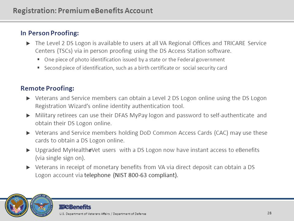 Registration: Premium eBenefits Account