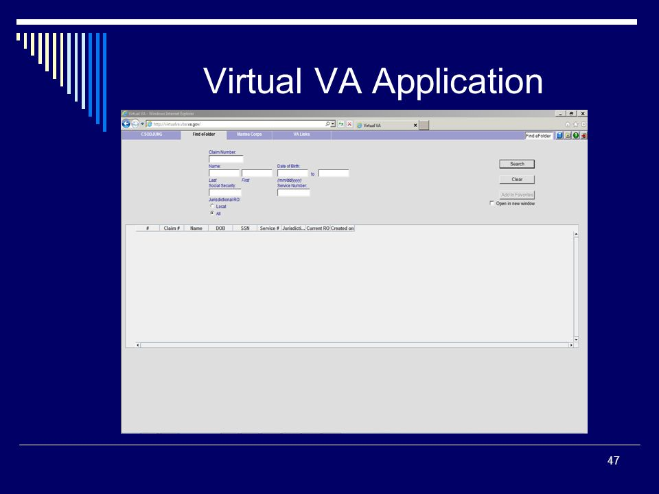 Virtual VA Application