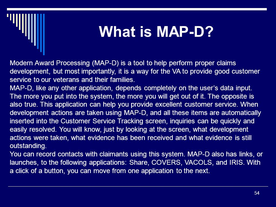 What is MAP-D