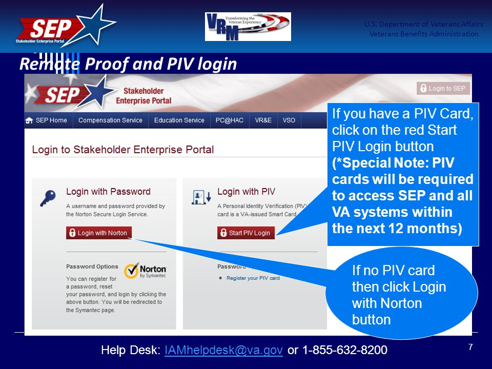 Remote Proof and PIV login
