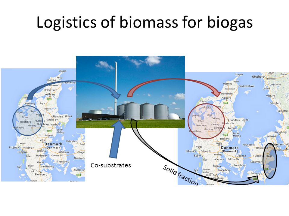 Logistics of biomass for biogas