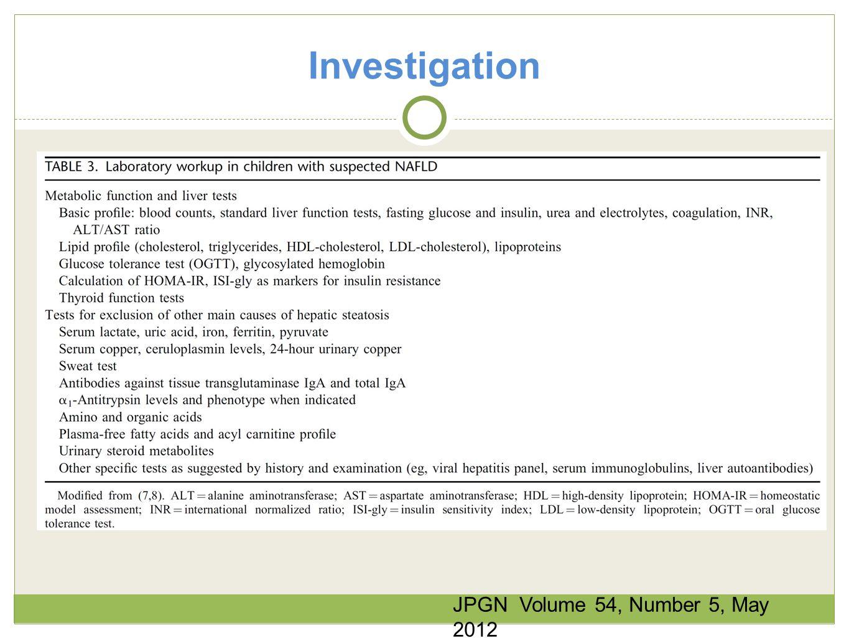 Investigation JPGN Volume 54, Number 5, May 2012