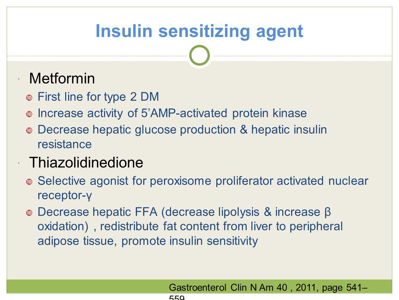 Insulin sensitizing agent