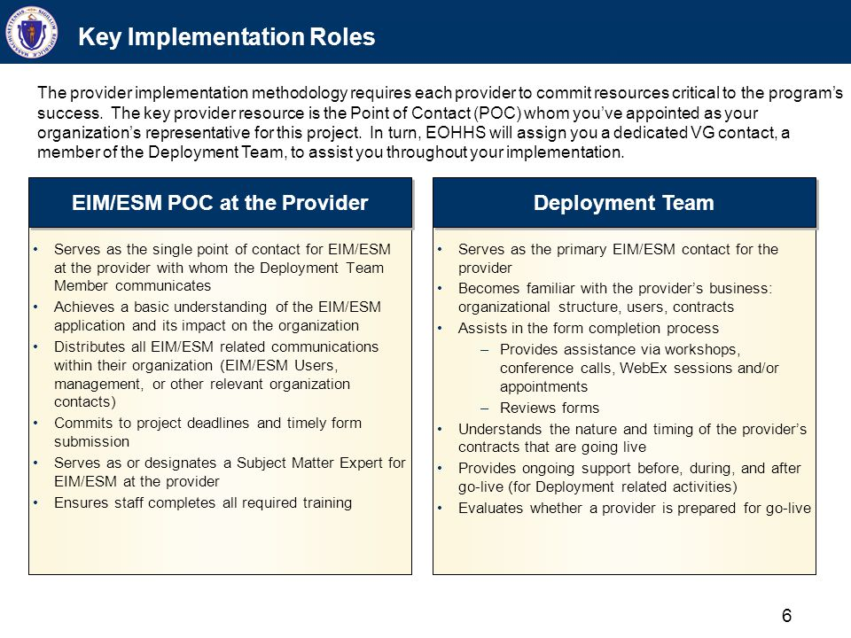 Key Implementation Steps for the POC
