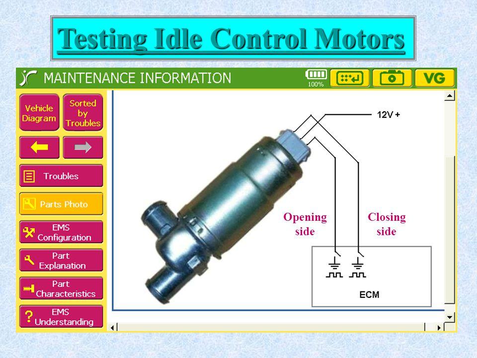 Testing Idle Control Motors