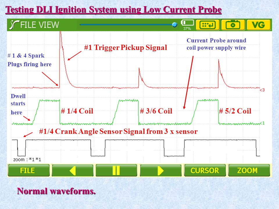 Testing DLI Ignition System using Low Current Probe