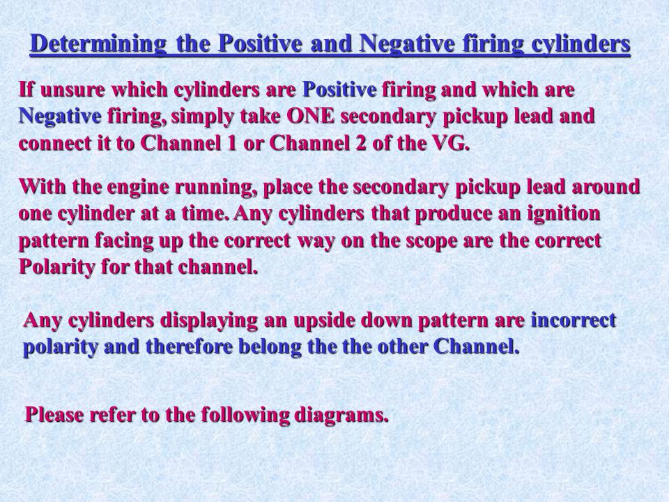 Determining the Positive and Negative firing cylinders