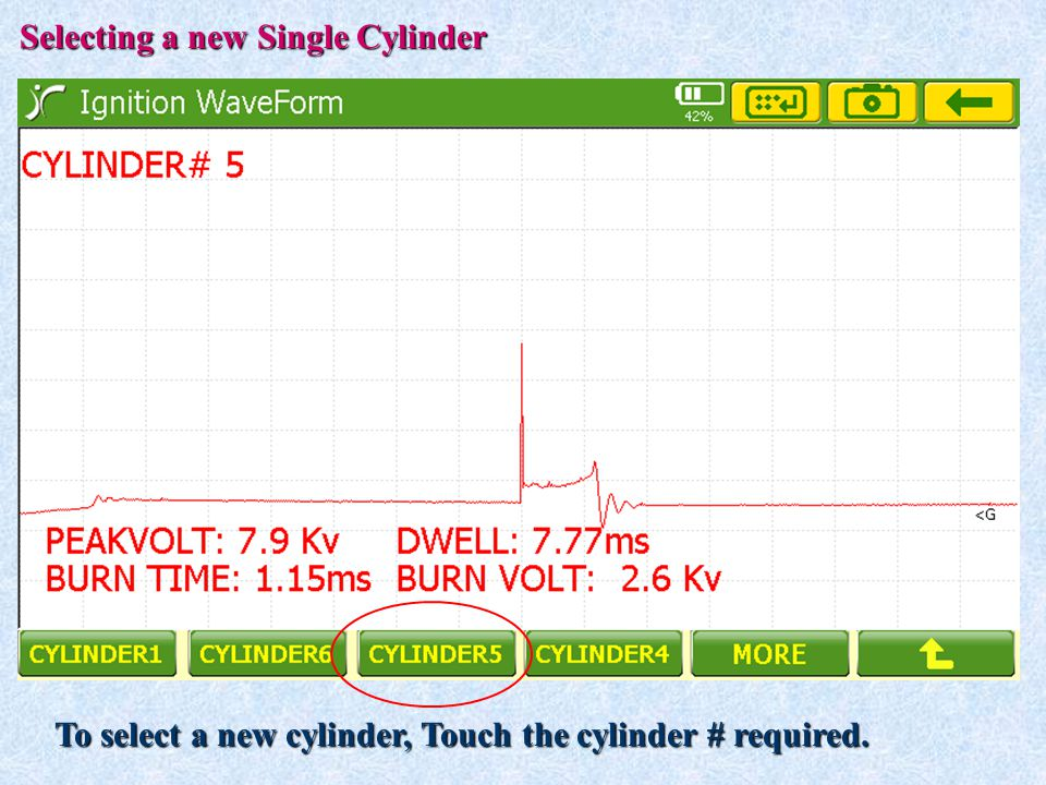 Selecting a new Single Cylinder