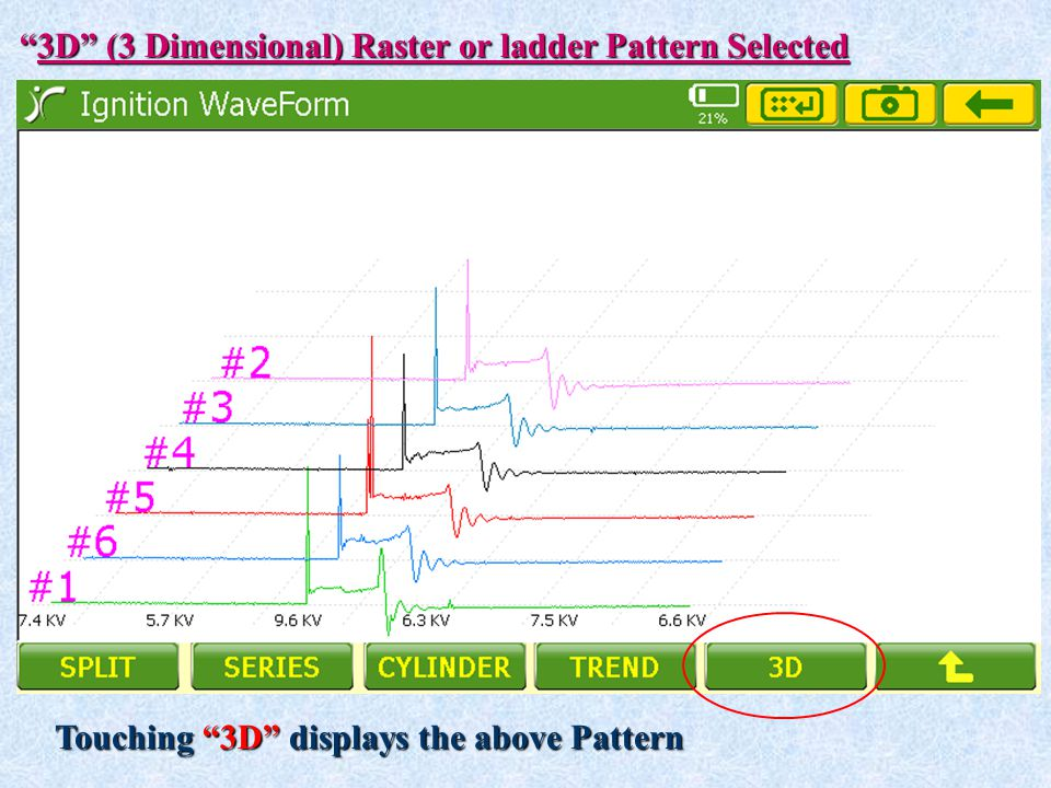 3D (3 Dimensional) Raster or ladder Pattern Selected