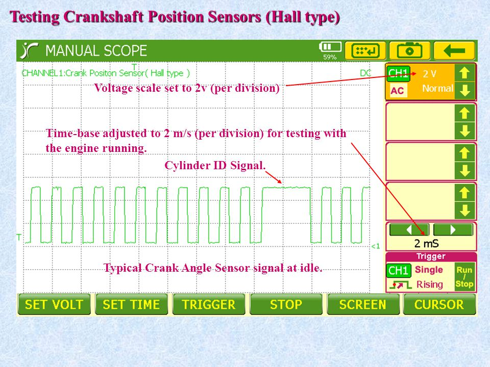 Testing Crankshaft Position Sensors (Hall type)