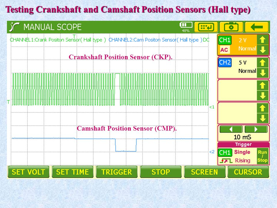 Testing Crankshaft and Camshaft Position Sensors (Hall type)