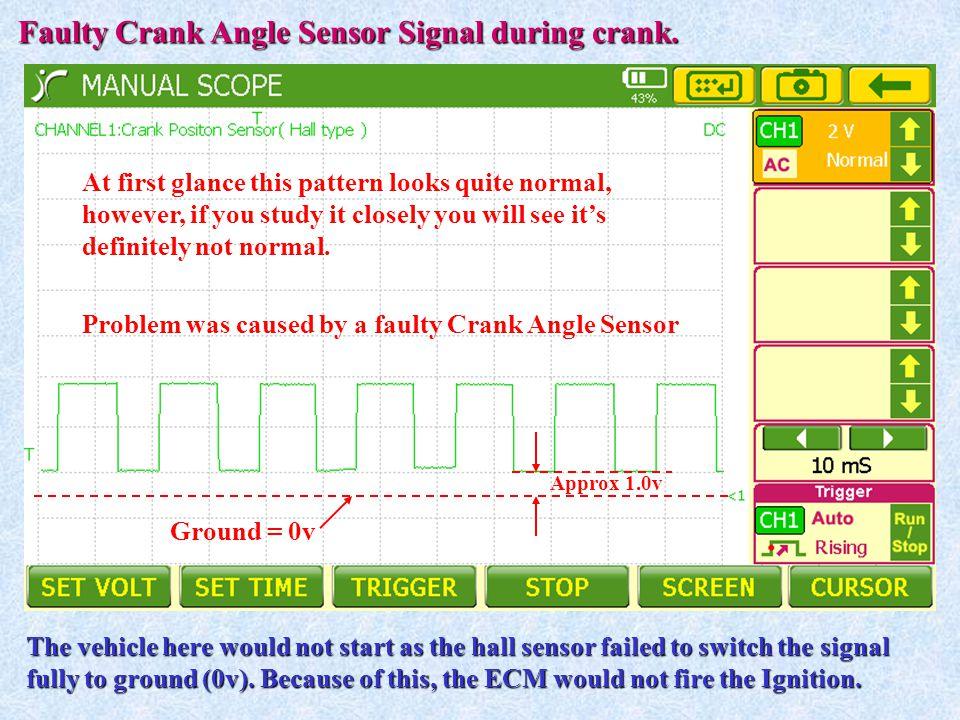 Faulty Crank Angle Sensor Signal during crank.