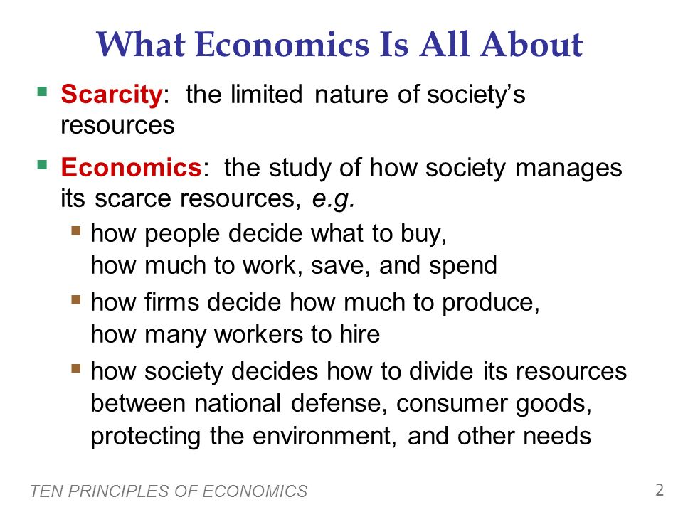 What Economics Is All About