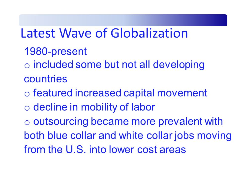 Latest Wave of Globalization