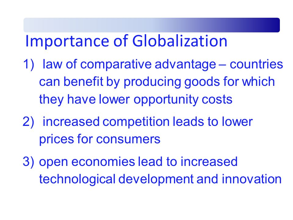 Importance of Globalization