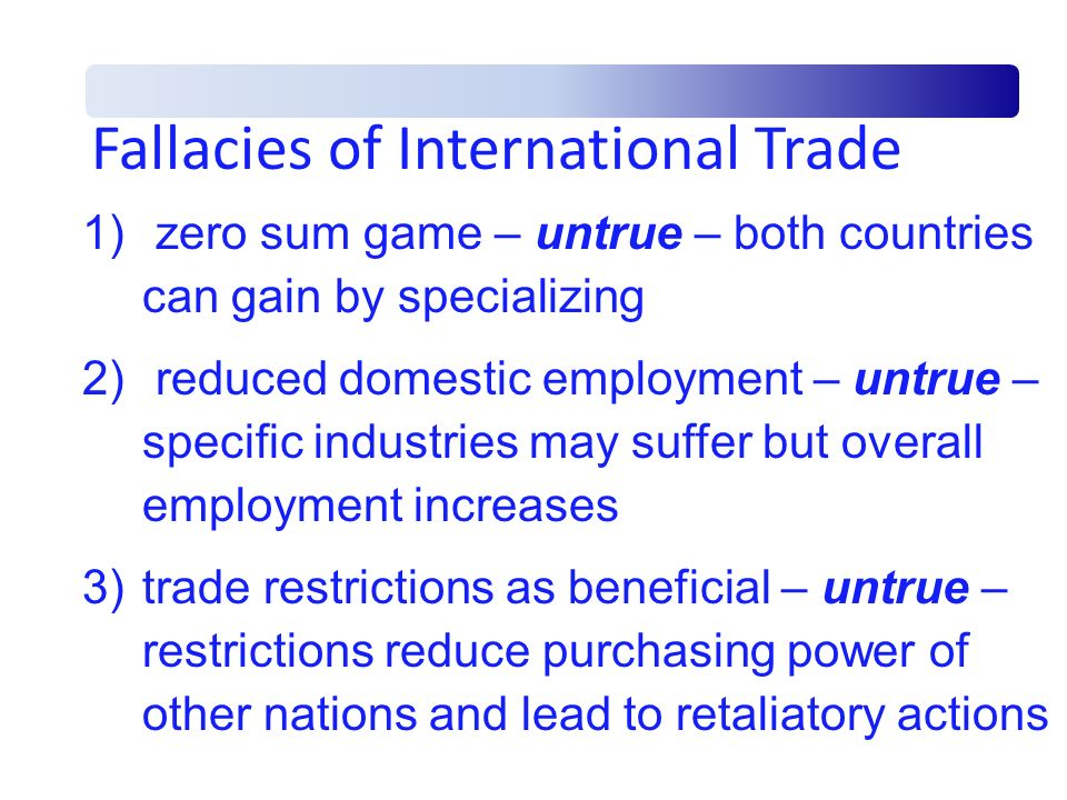 Fallacies of International Trade