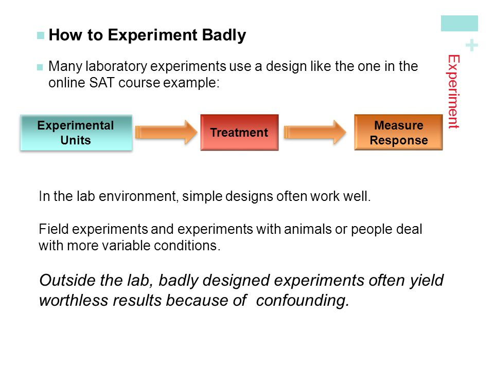 How to Experiment Badly