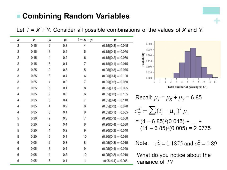 Combining Random Variables