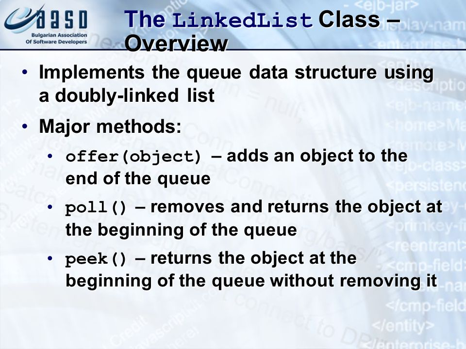 The LinkedList Class – Overview