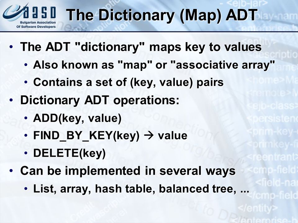 The Dictionary (Map) ADT