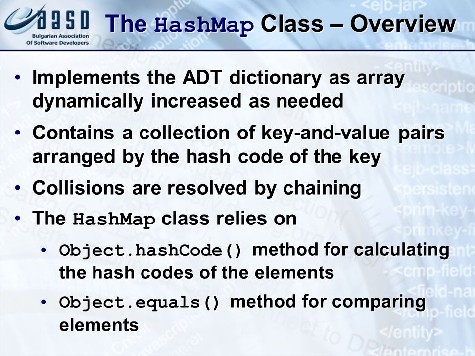 The HashMap Class – Overview