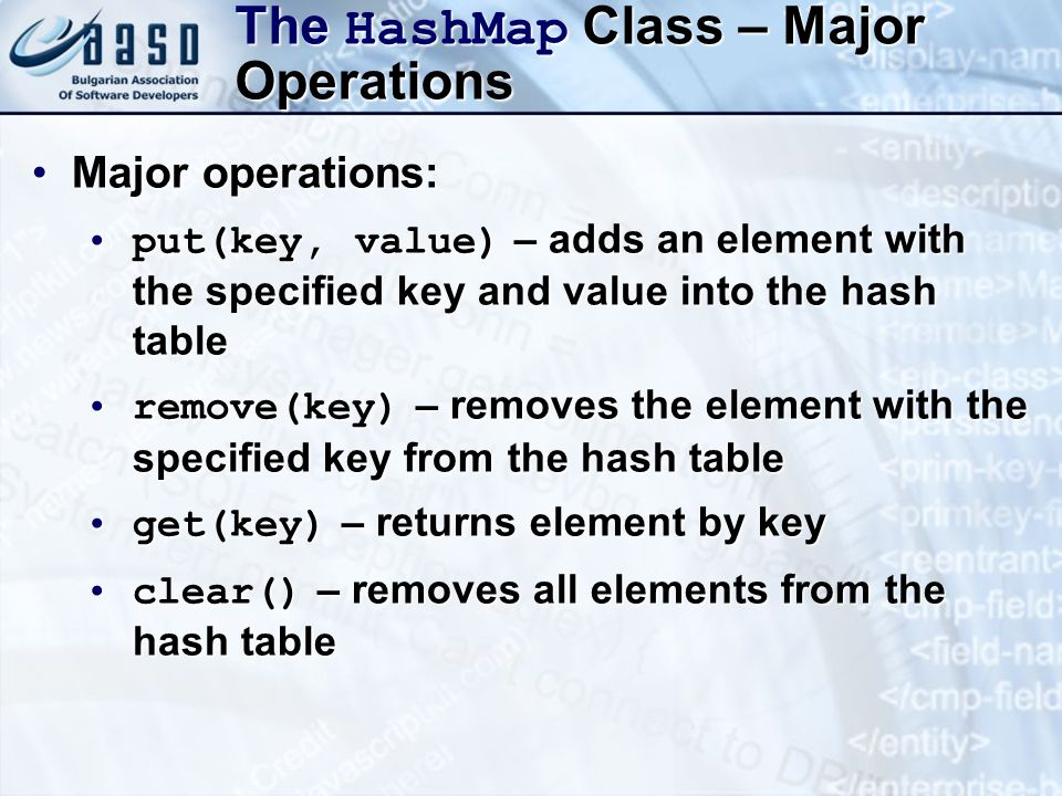 The HashMap Class – Major Operations