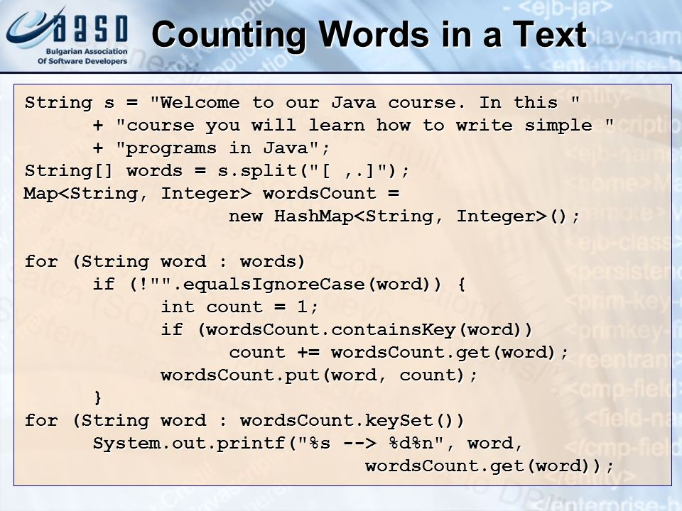 Counting Words in a Text