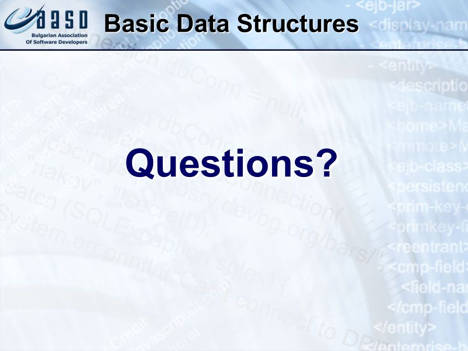 Basic Data Structures Questions