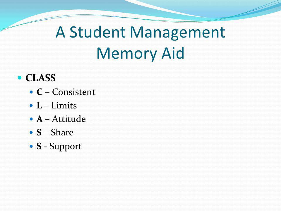 A Student Management Memory Aid