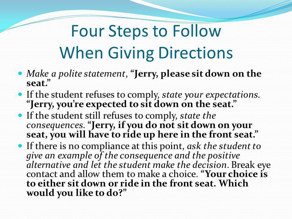 Four Steps to Follow When Giving Directions