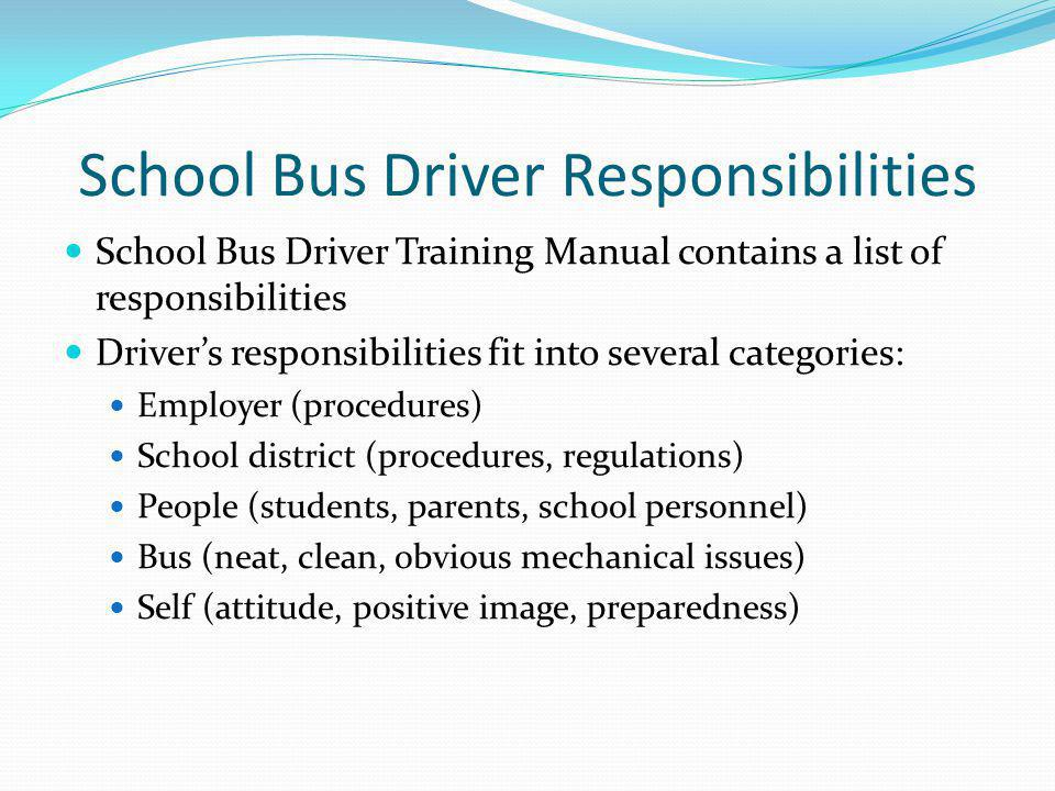 School Bus Driver Responsibilities