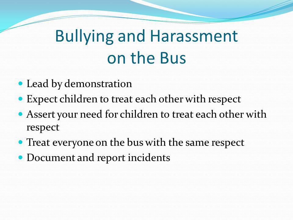 Bullying and Harassment on the Bus