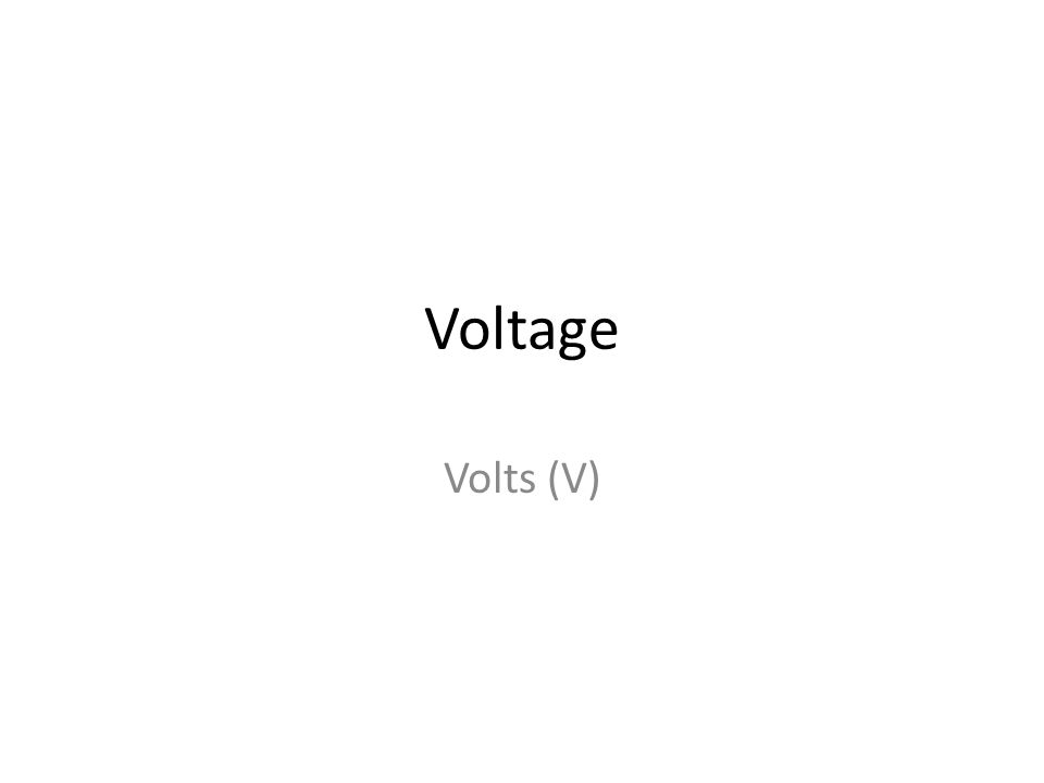 Voltage Volts (V)