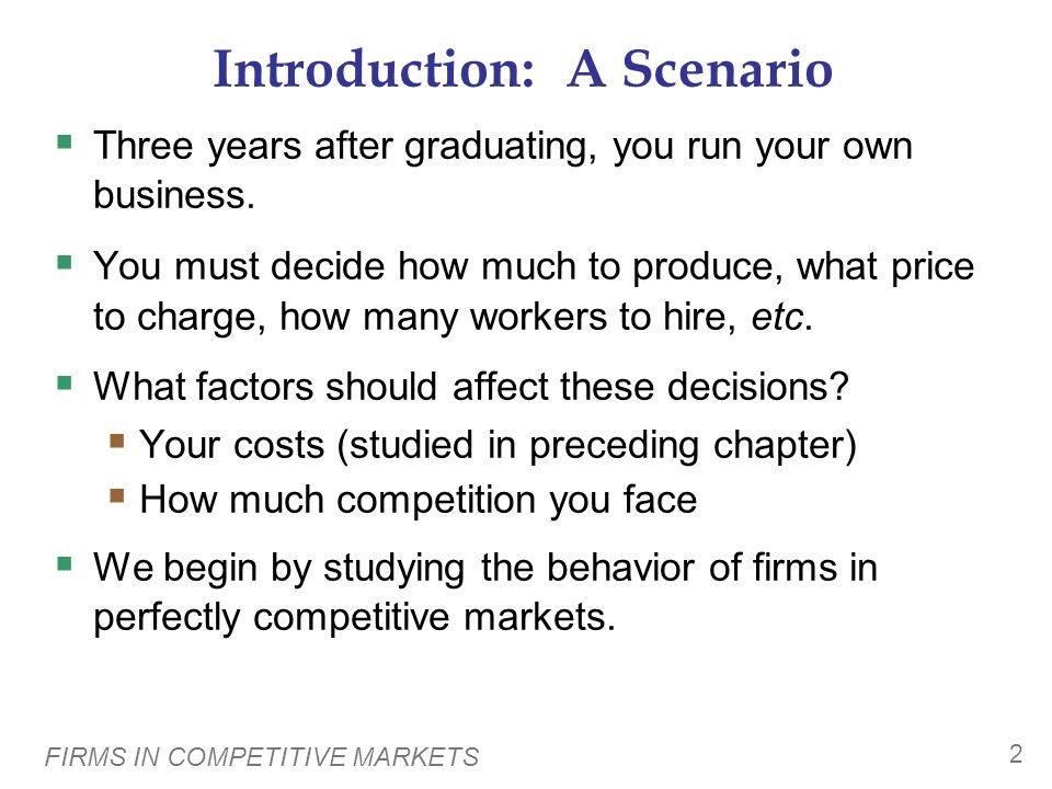 Introduction: A Scenario