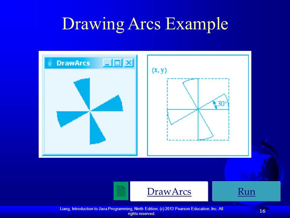 Drawing Arcs Example DrawArcs Run