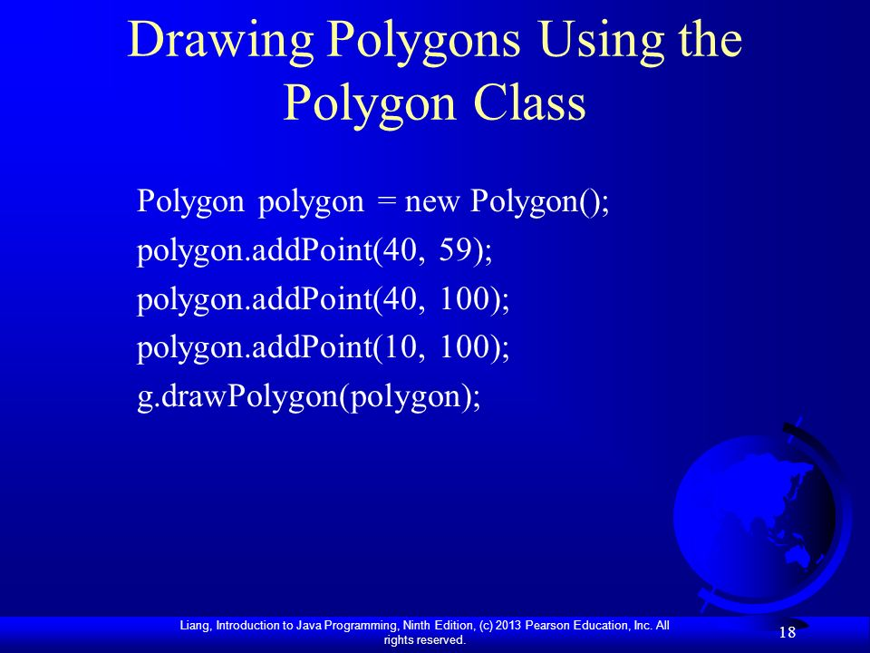 Drawing Polygons Using the Polygon Class