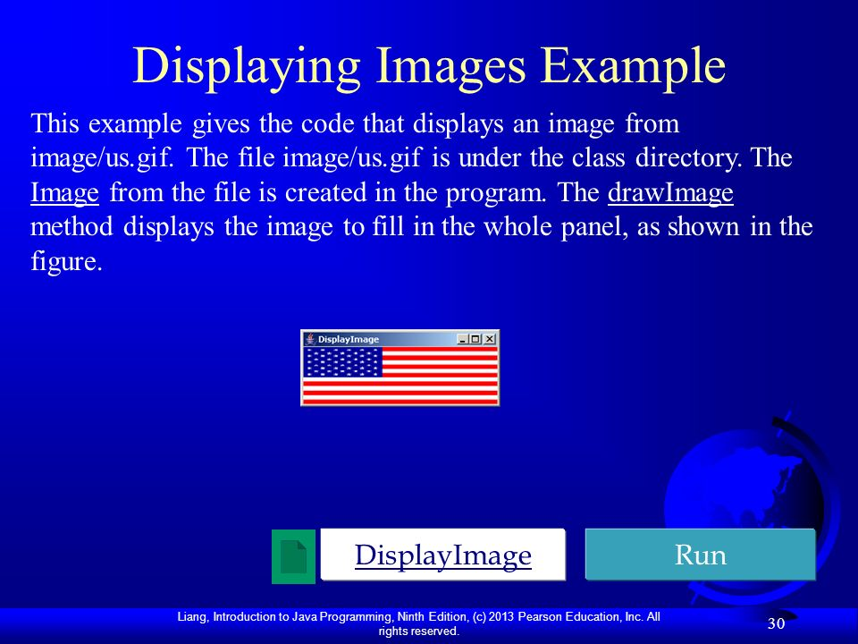 Displaying Images Example