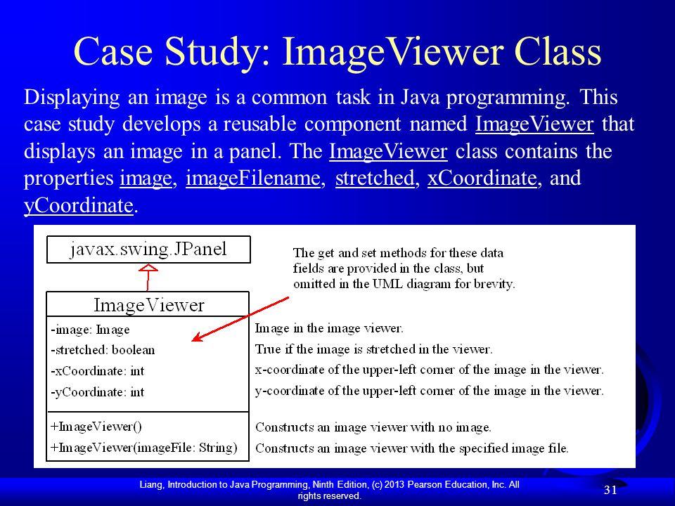 Case Study: ImageViewer Class