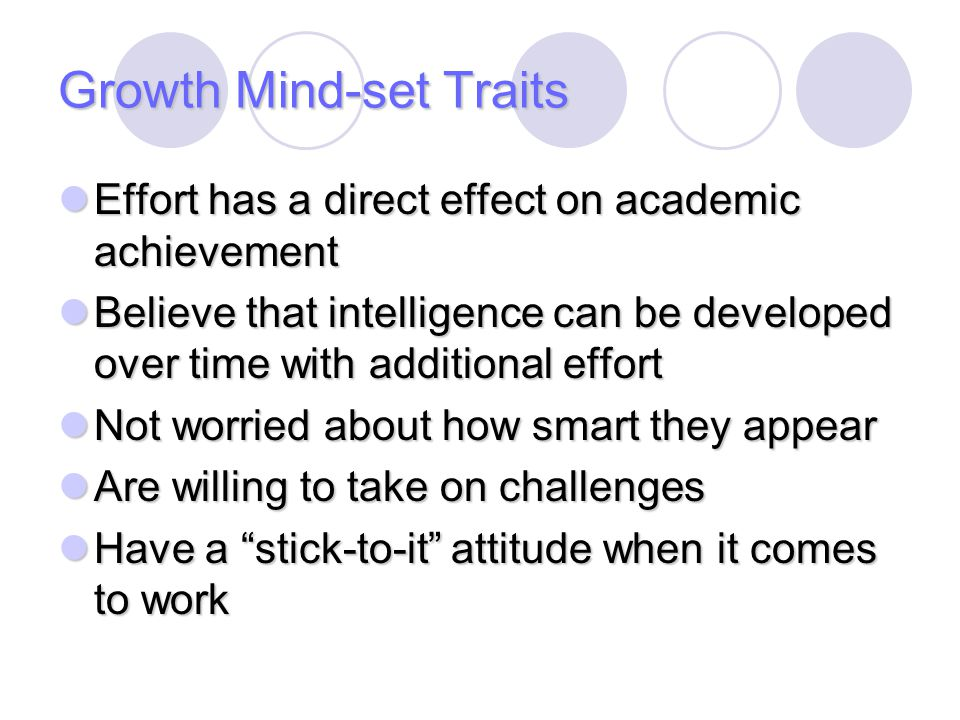 Growth Mind-set Traits