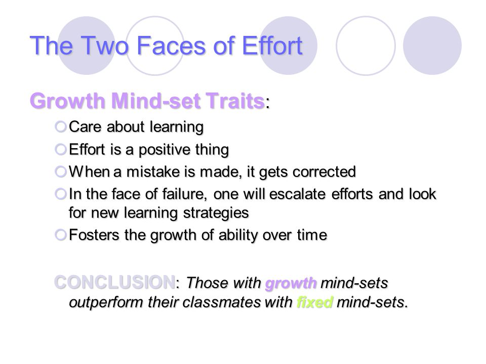 The Two Faces of Effort Growth Mind-set Traits: