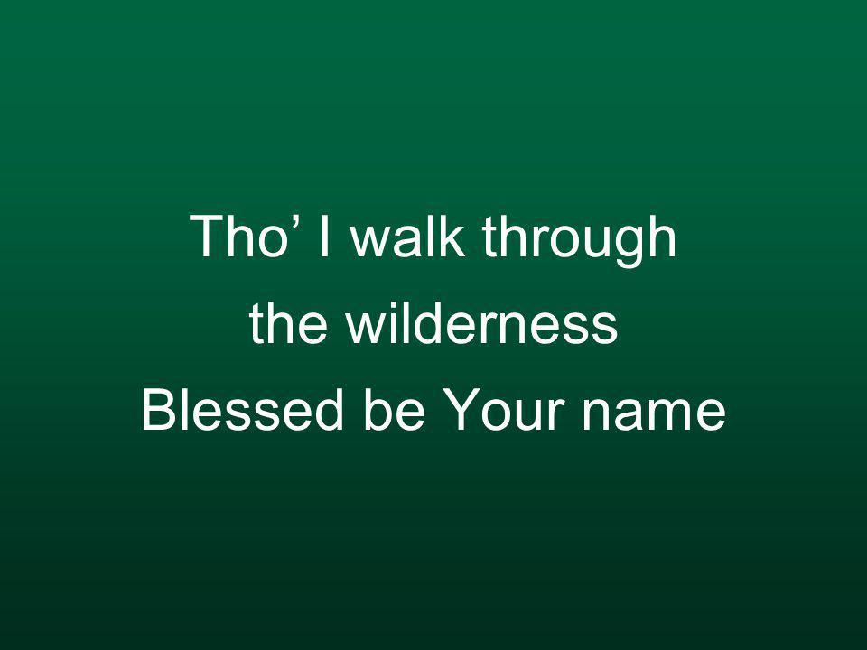 Tho' I walk through the wilderness Blessed be Your name