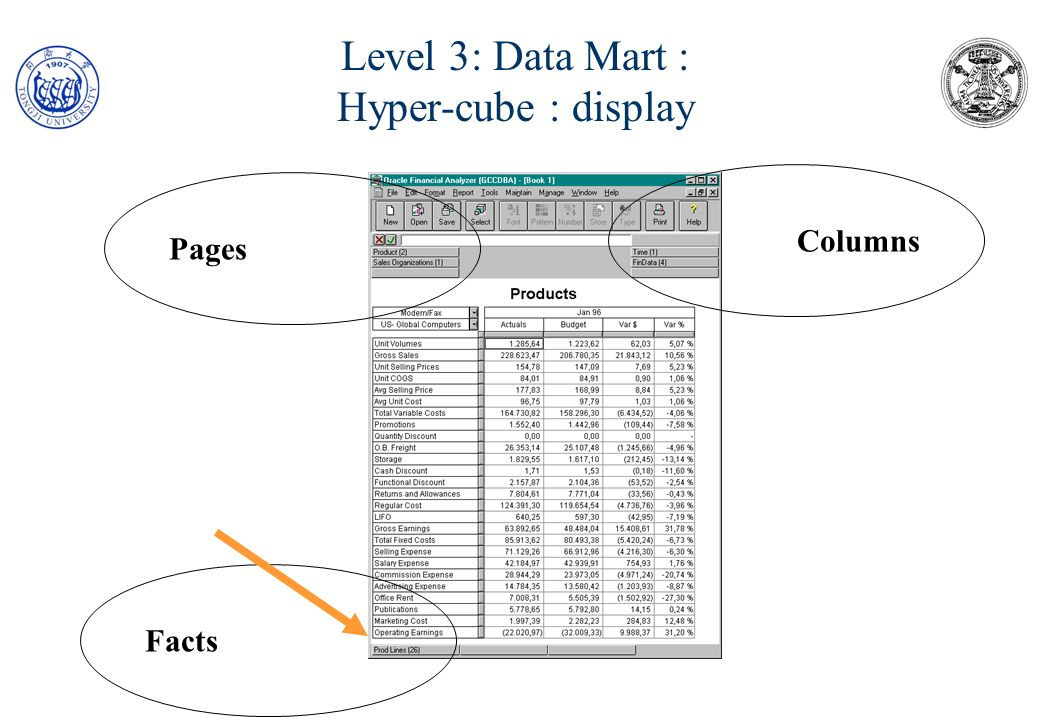 Level 3: Data Mart : Hyper-cube : display