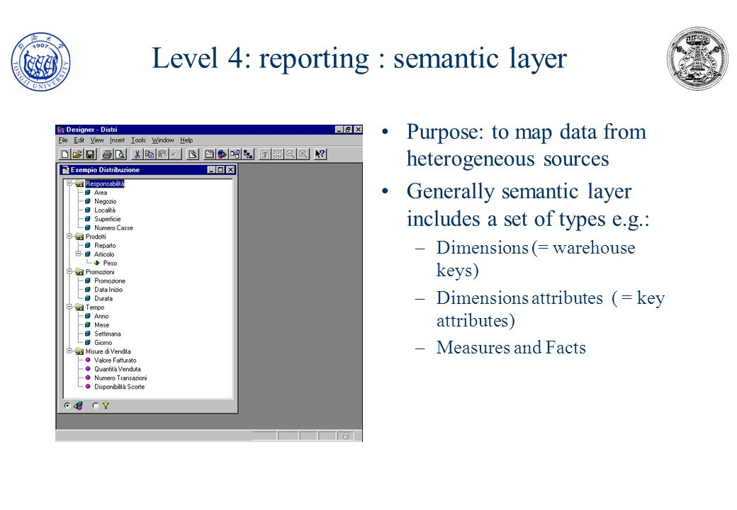 Level 4: reporting : semantic layer